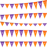Illustration Halloween hanging streamers flags for your party - vector