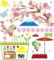 春の風景とアイテム 60028000001| 写真素材・ストックフォト・画像・イラスト素材|アマナイメージズ