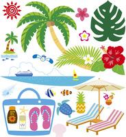 夏の風景とアイテム 60028000002| 写真素材・ストックフォト・画像・イラスト素材|アマナイメージズ