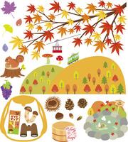 秋の風景とアイテム 60028000003| 写真素材・ストックフォト・画像・イラスト素材|アマナイメージズ