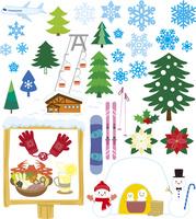 冬の風景とアイテム 60028000004| 写真素材・ストックフォト・画像・イラスト素材|アマナイメージズ