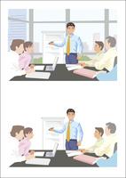 新しい提案をプレゼンテーションしている若手ビジネスマン 60030000013| 写真素材・ストックフォト・画像・イラスト素材|アマナイメージズ