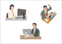 デスクワークをしているビジネスマン 60030000017| 写真素材・ストックフォト・画像・イラスト素材|アマナイメージズ