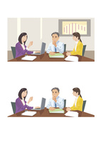 意見交換をしている上司と部下 60030000030| 写真素材・ストックフォト・画像・イラスト素材|アマナイメージズ