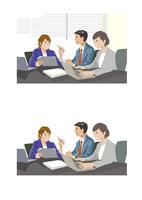 女性上司との打ち合わせをする若手社員 60030000044| 写真素材・ストックフォト・画像・イラスト素材|アマナイメージズ