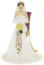 椅子に座る花嫁