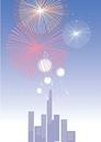 都市の花火