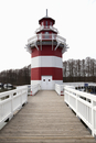 Germany, View of lighthouse at Hafendorf Rheinsberg