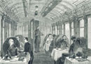 A diningcar on the great Northern Railway. London, England,