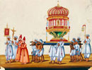 Roman Catholic Procession at Pondicherry. South India, mid-
