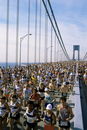 Runners, marathon, New York, New York State, United States of America, North America