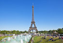 Eiffel Tower and the Trocadero Fountains, Paris, France, Europe