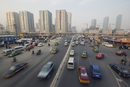 Traffic in the CBD business district, Guomao area, Beijing, China, Asia