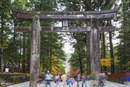 Torii gate, Nikko shrine, UNESCO World Heritage Site, Tochigi Prefecture, Honshu, Japan, Asia