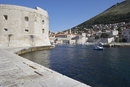 City walls, the harbour in background, Dubrovnik, Croatia