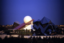 View of Futuroscope at night, Poitiers, France