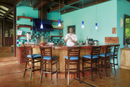 Central America, Costa Rica, Puntarenas, Nicoya peninsula, Santa Teresa, the bar at the Latitude 10 resort (MR)