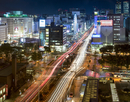 Nagoya downtown at night, Aichi prefecture, Japan