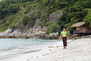 South East Asia, Thailand, Surat Thani Province, Ko Tao, Hat Tien beach, Haad Tien Beach Resort, a member of the hotel staff del