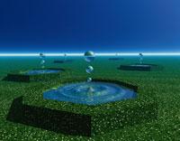 浮かぶ水玉 3D 00556010019| 写真素材・ストックフォト・画像・イラスト素材|アマナイメージズ
