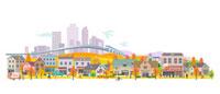 ビジネス街の秋景色 00811010145| 写真素材・ストックフォト・画像・イラスト素材|アマナイメージズ