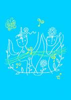 人とリズム イラスト 02221000054| 写真素材・ストックフォト・画像・イラスト素材|アマナイメージズ