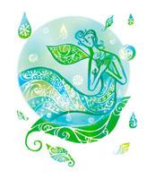 葉と水滴と女性のイメージ 02221000163| 写真素材・ストックフォト・画像・イラスト素材|アマナイメージズ
