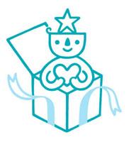 プレゼントボックスとキャラクター 02221000182| 写真素材・ストックフォト・画像・イラスト素材|アマナイメージズ