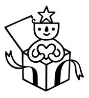 プレゼントボックスとキャラクター 02221000183| 写真素材・ストックフォト・画像・イラスト素材|アマナイメージズ