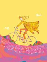 自転車に乗る女性 02221000212| 写真素材・ストックフォト・画像・イラスト素材|アマナイメージズ