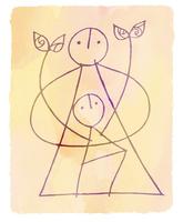大人と子供と二葉 02221000251| 写真素材・ストックフォト・画像・イラスト素材|アマナイメージズ