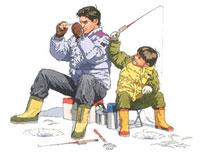 氷上フィッシング 02237012103| 写真素材・ストックフォト・画像・イラスト素材|アマナイメージズ