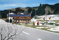 雪あそびをする子供 02237013316| 写真素材・ストックフォト・画像・イラスト素材|アマナイメージズ