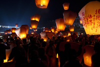 TAIWAN. 2011. The Red Lantern Festival in the Pingxi region.