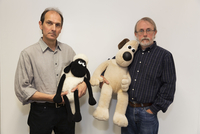 GB. England. Bristol. Aardman Animations. David Sproxton on left and Peter Lord founding Partners of Aardman Animations. Open fo 02265047479| 写真素材・ストックフォト・画像・イラスト素材|アマナイメージズ