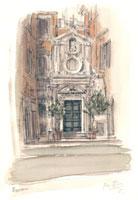 ローマの小さな教会 02398000058| 写真素材・ストックフォト・画像・イラスト素材|アマナイメージズ