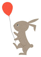 風船を持つウサギ 02403000034| 写真素材・ストックフォト・画像・イラスト素材|アマナイメージズ