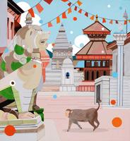 世界遺産ネパール カトマンズ 02422000067| 写真素材・ストックフォト・画像・イラスト素材|アマナイメージズ