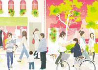 町の中の人々 02425000009| 写真素材・ストックフォト・画像・イラスト素材|アマナイメージズ