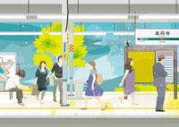 高円寺駅のホーム 02425000010| 写真素材・ストックフォト・画像・イラスト素材|アマナイメージズ