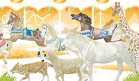 メリーゴーランド キリン・羊・馬 02425000013| 写真素材・ストックフォト・画像・イラスト素材|アマナイメージズ