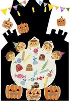 ハロウィンと子供達 02427000162| 写真素材・ストックフォト・画像・イラスト素材|アマナイメージズ