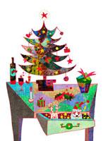 クリスマスのテ−ブル 02432000166| 写真素材・ストックフォト・画像・イラスト素材|アマナイメージズ