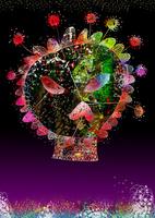 骸骨と花 02432000292| 写真素材・ストックフォト・画像・イラスト素材|アマナイメージズ