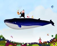 クジラと動物 02432000300| 写真素材・ストックフォト・画像・イラスト素材|アマナイメージズ