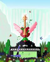 ギターとピアノ 02432000302| 写真素材・ストックフォト・画像・イラスト素材|アマナイメージズ