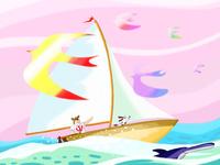 ヨットとクマ 02432000307| 写真素材・ストックフォト・画像・イラスト素材|アマナイメージズ