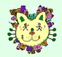 猫顔の街 02432000369| 写真素材・ストックフォト・画像・イラスト素材|アマナイメージズ