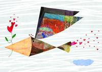 ハートをくわえる鳥 02432000421| 写真素材・ストックフォト・画像・イラスト素材|アマナイメージズ