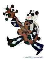 パンダとギター 02432000478| 写真素材・ストックフォト・画像・イラスト素材|アマナイメージズ